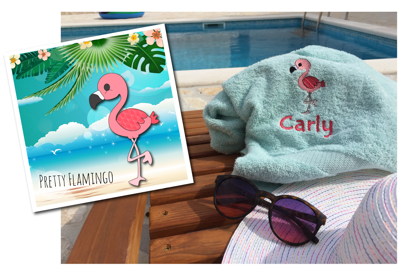 Kraamcadeau met Flamingo