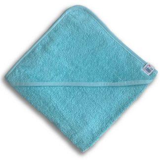 Lichtblauwe Badcape met Naam en Geborduurd Figuurtje