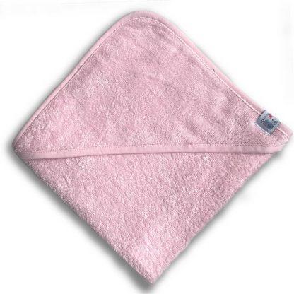 Roze Badcape met Naam en Geborduurd Figuurtje