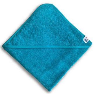 Turquoise Badcape met Naam en Geborduurd Figuurtje