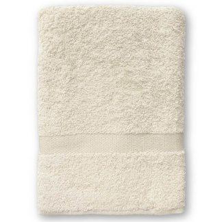 Ecru Handdoek met Naam en Geborduurd Figuurtje