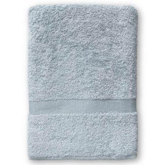 Grijze Handdoek met Naam en Geborduurd Figuurtje