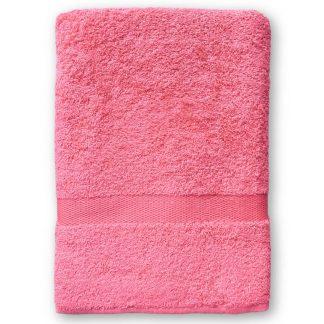 Koraal Handdoek met Naam en Geborduurd Figuurtje