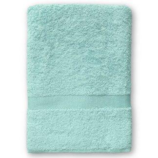 Mint Handdoek met Naam en Geborduurd Figuurtje