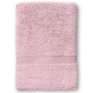 Roze Handdoek met Naam en Geborduurd Figuurtje