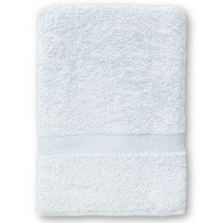 Witte Handdoek met Naam en Geborduurd Figuurtje