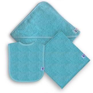 Lichtblauw Kraampakket met Naam en Geborduurd Figuurtje