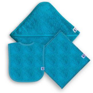 Turquoise Kraampakket met Naam en Geborduurd Figuurtje