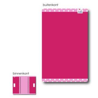 Fuchsia/Roze Luiertasje met Naam en Geborduurd Figuurtje