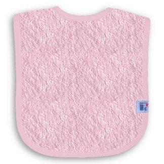 Roze Slabbetje met Naam en Geborduurd Figuurtje