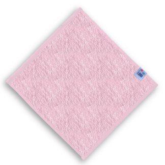 Roze Spuugdoekje met Naam en Geborduurd Figuurtje